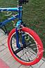 ✅Велосипед bmx Для Подростка Crosser Rainbow 20 Дюймов Синий с Красными покрышками, фото 3