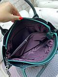 Жіноча комбінована сумка кожзам/натуральна замша, фото 5