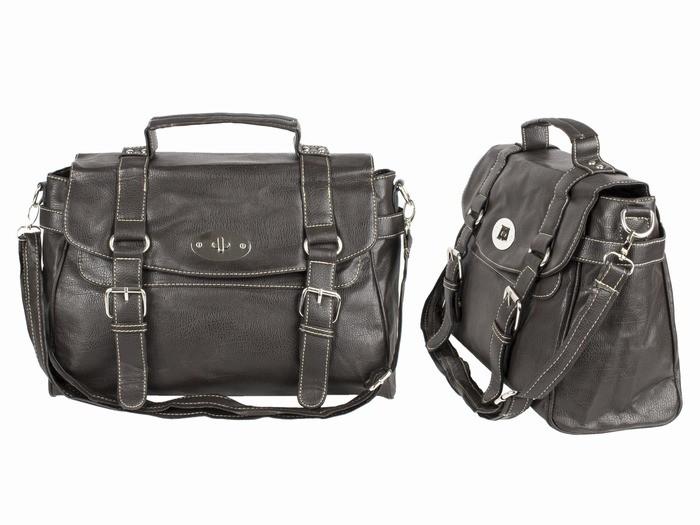 Портфель сумка мужская темно-коричневая