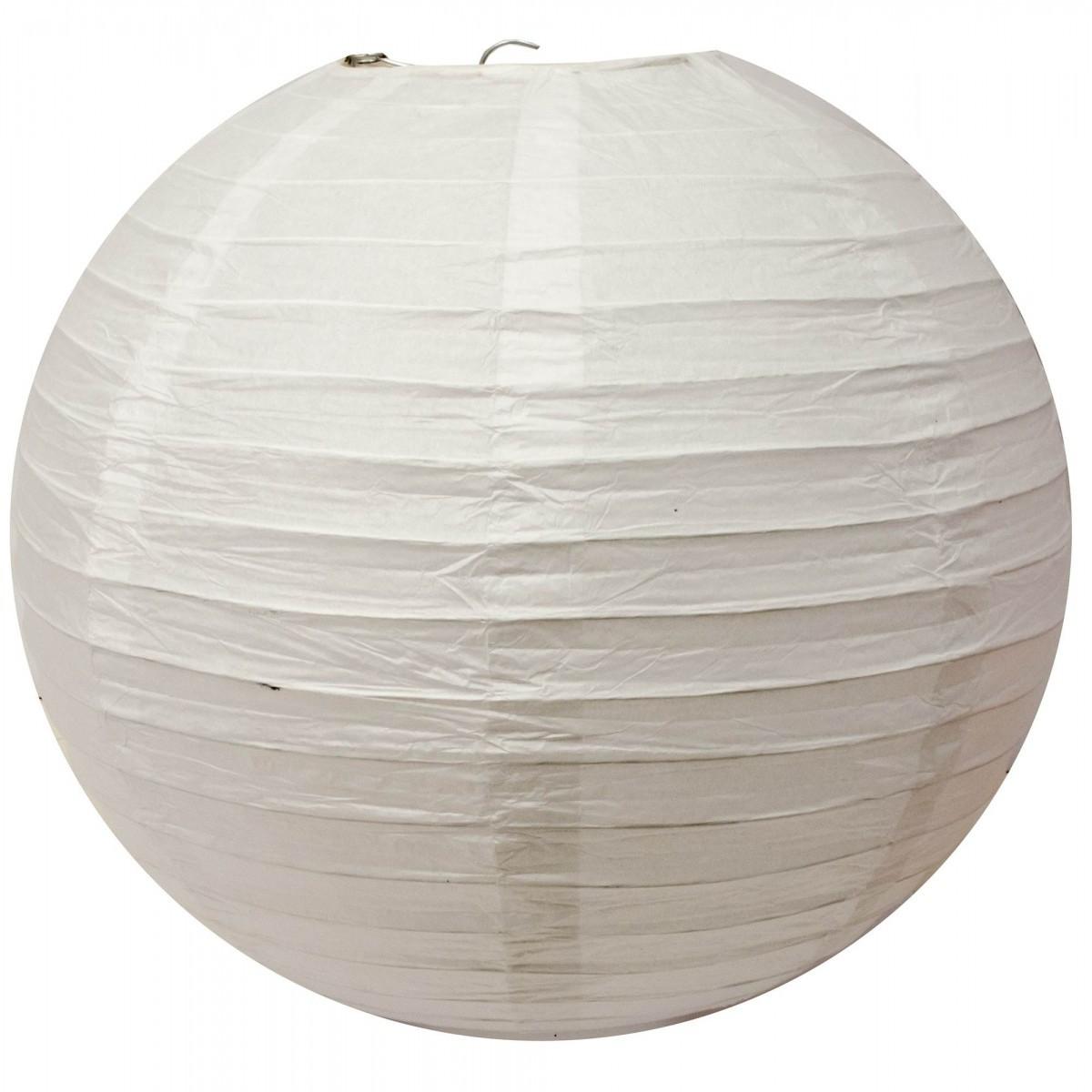 Белый бумажный фонарь