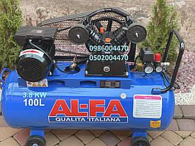 Компресор повітряний Al-FA ALC100-2 3,8 КВт 660 л/хв