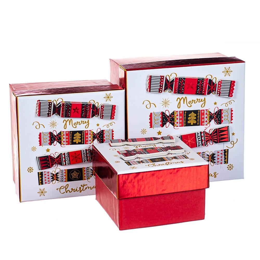 Набір коробок з 3 шт. 13х13х8см 8013-001
