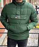 Куртка - Мужской анорак зима (зеленого цвета), фото 2