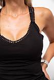 Майка женская 131r0357-1 цвет Черный, фото 5