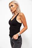 Майка женская 131r0357-1 цвет Черный, фото 3
