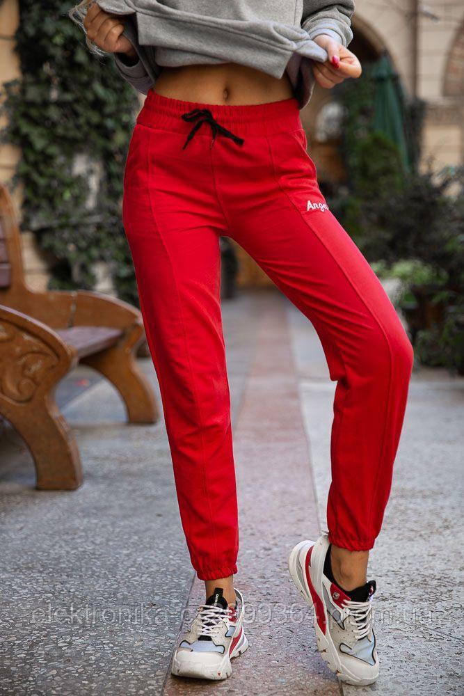 Спорт брюки женские 131R0057-4 цвет Красный