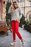 Спорт брюки женские 131R0057-4 цвет Красный, фото 5