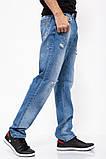 Джинсы мужские 129R8801-3 цвет Синий, фото 3
