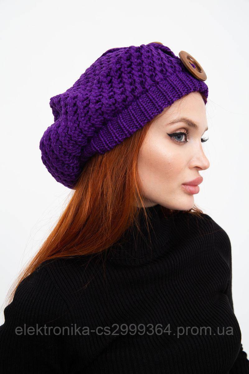 Шапка женская 126R010 цвет Фиолетовый