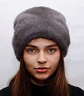 """Женская модная норковая шапка """"Шарпей"""""""