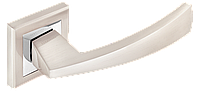 Ручка дверная на розетке MVM Z-1215 SN/CP