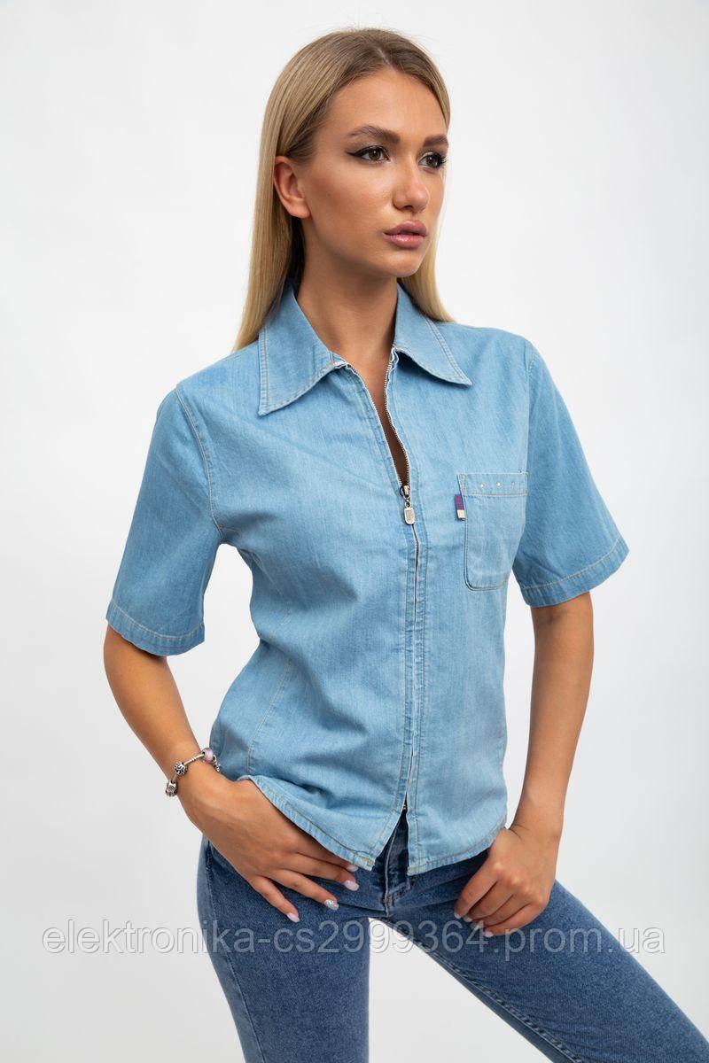 Рубашка женская 123R1916 цвет Светло-голубой