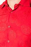 Рубашка 50PD10-2 цвет Красный, фото 3