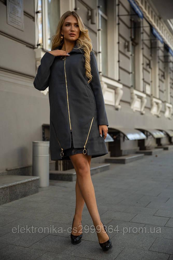 Пальто женское 153R970 цвет Темно-серый