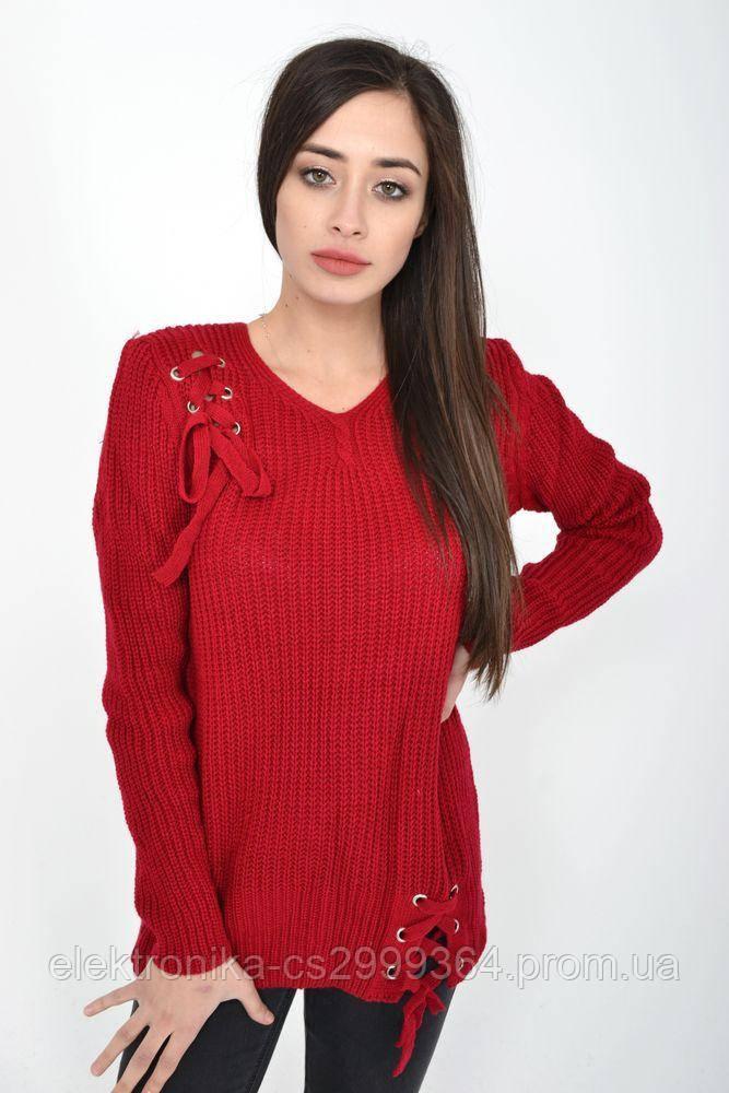 Свитер женский 122R024 цвет Бордовый