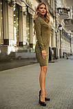 Платье 153R1082 цвет Хаки, фото 2