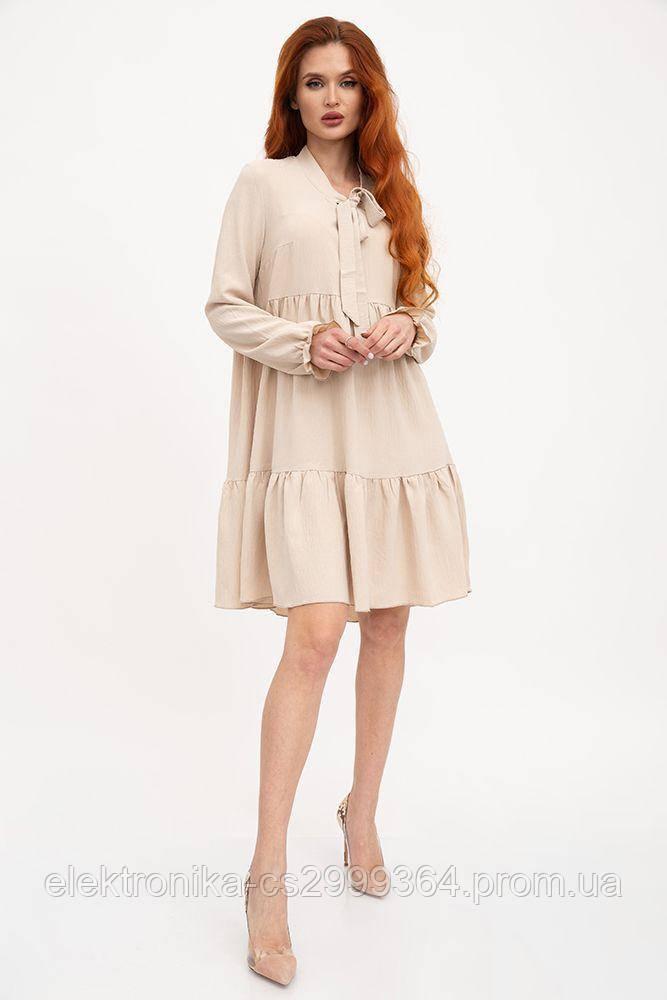 Платье женское 119R3 цвет Бежевый