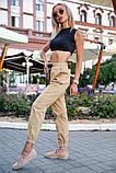 Брюки женские 149R9301-9 цвет Бежевый, фото 7