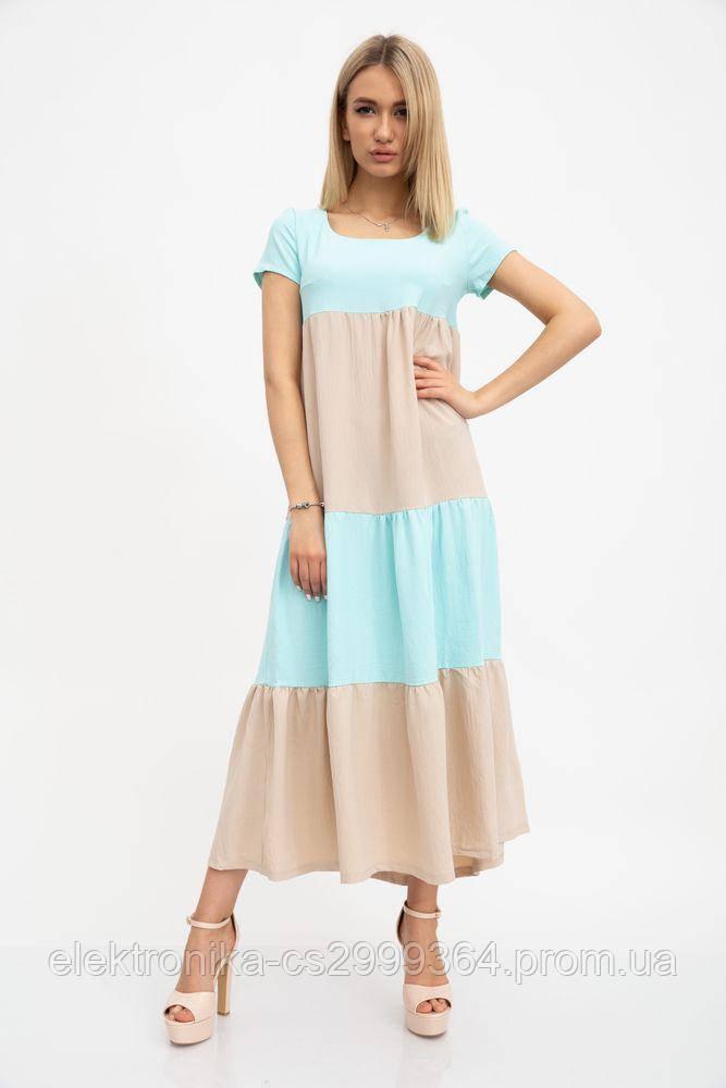 Платье 119R282 цвет Бежево-мятный