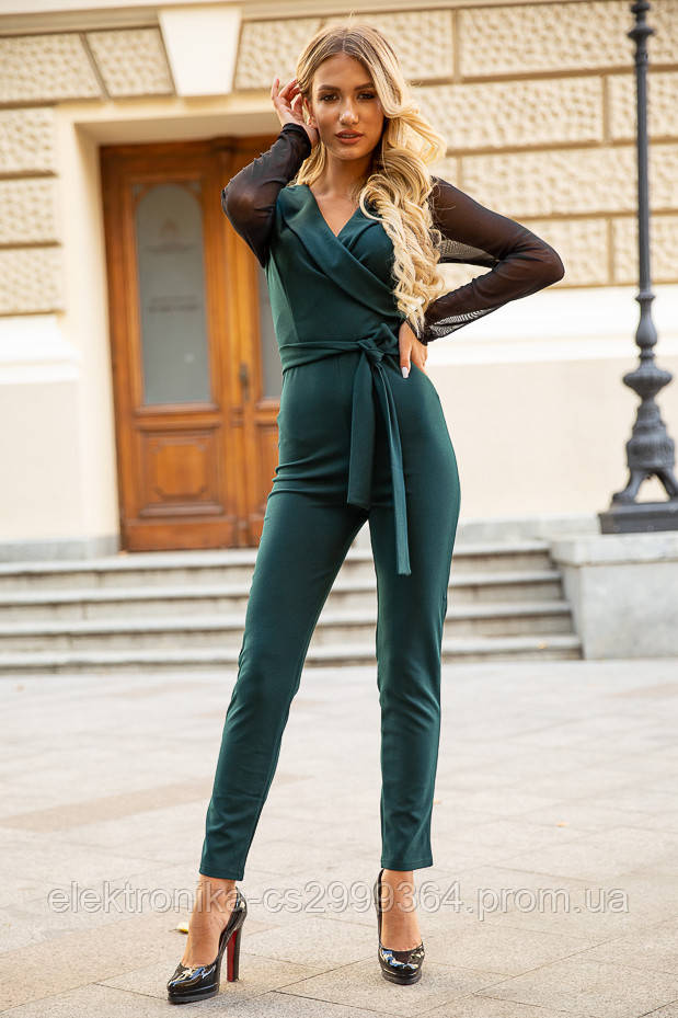 Комбинезон женский 119R177 цвет Темно-зеленый