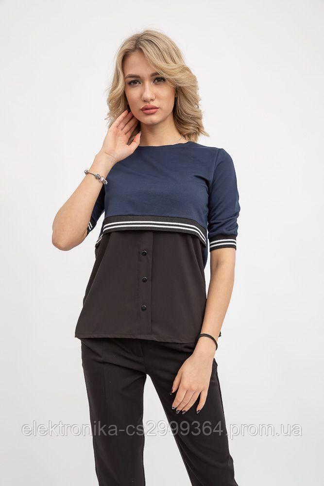 Блуза женская 119R163 цвет Черно-синий