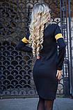 Платье 119R153 цвет Черно-горчичный, фото 4