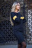 Платье 119R153 цвет Черно-горчичный, фото 3