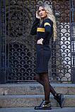 Платье 119R153 цвет Черно-горчичный, фото 2