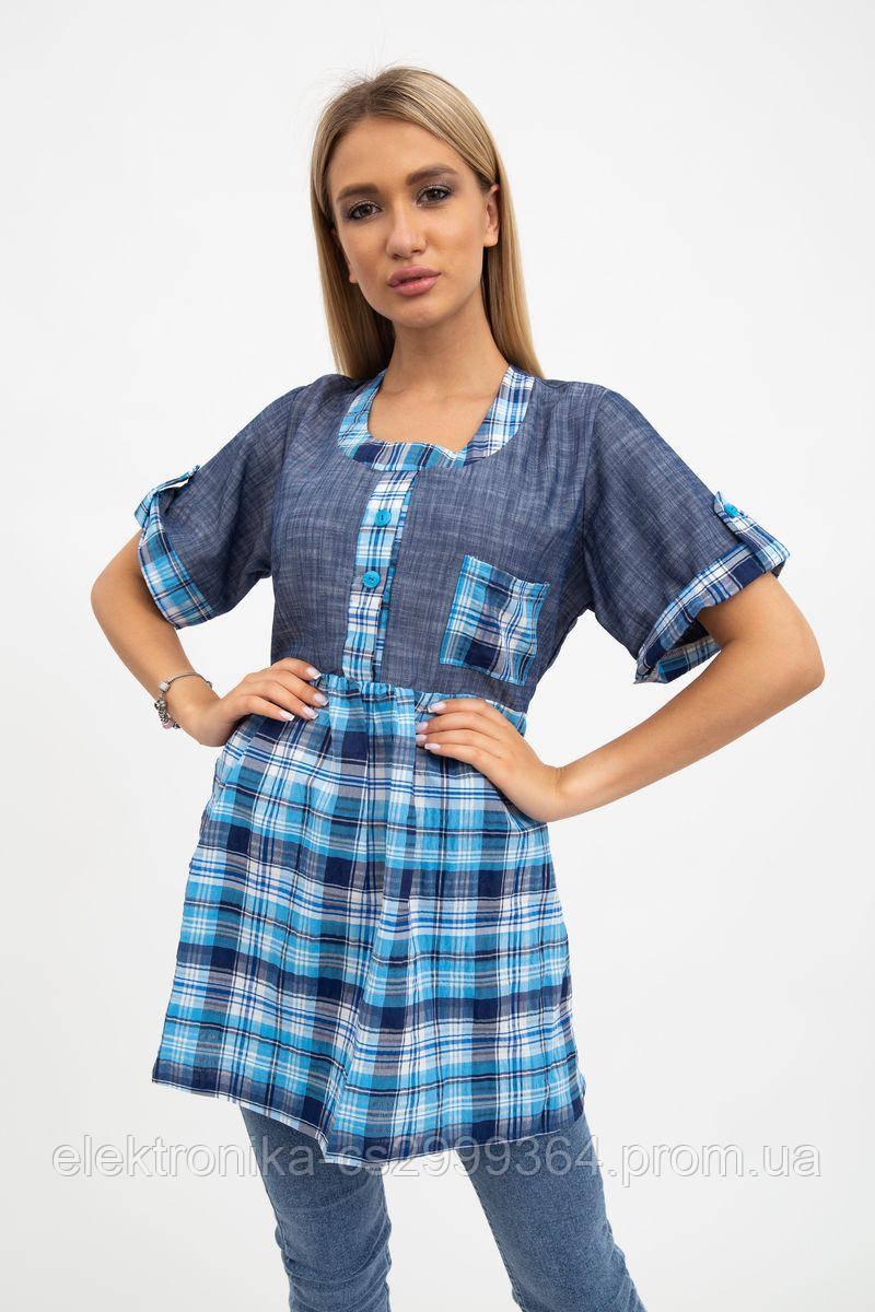 Рубашка женская 137R1544 цвет Сине-голубой