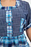 Рубашка женская 137R1544 цвет Сине-голубой, фото 5