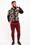 Худи мужское 119R049(761) цвет Камуфляжно-бежевый, фото 2