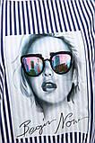 Блуза женская 119R0417 цвет Сине-белый, фото 5