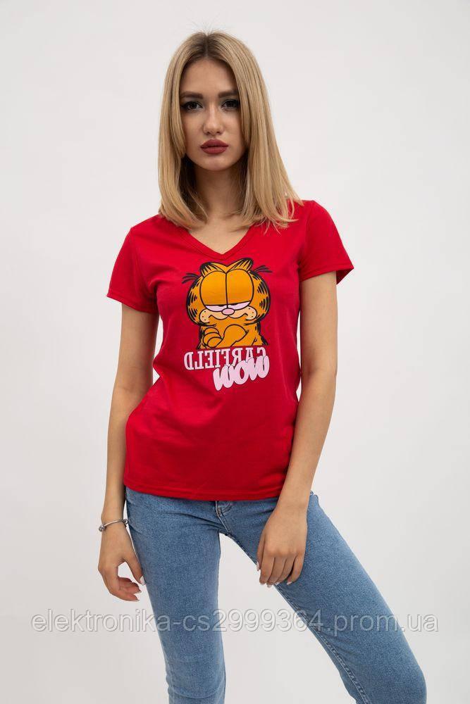 Футболка женская 119R0110 цвет Красный