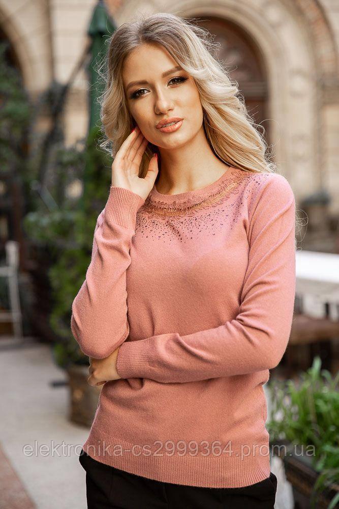 Свитер женский 131R5516 цвет Пудровый
