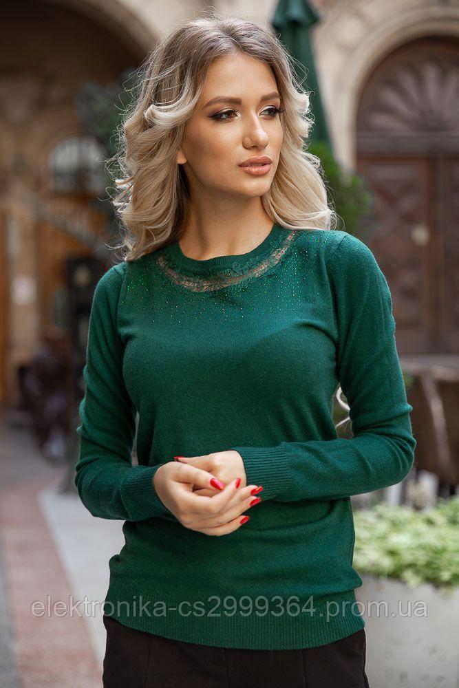 Свитер женский 131R5516 цвет Зеленый