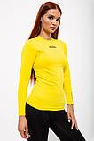Рашгард женский 117R076 цвет Желтый, фото 4