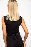 Майка спорт.женская 117R068 цвет Черный, фото 4