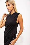 Майка спорт.женская 117R068 цвет Черный, фото 3