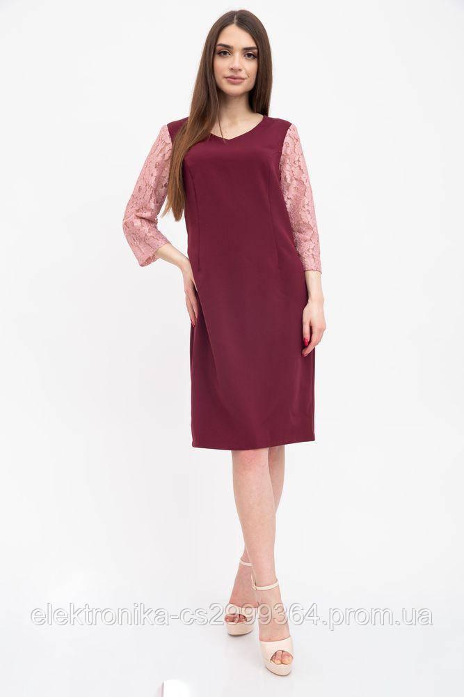 Платье женское 131R2907 цвет Бордовый