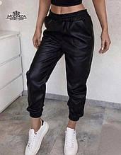 "Женские кожаные штаны на резинке ""Маркус""| Норма"