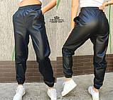 """Женские кожаные штаны на резинке """"Маркус""""  Норма, фото 3"""
