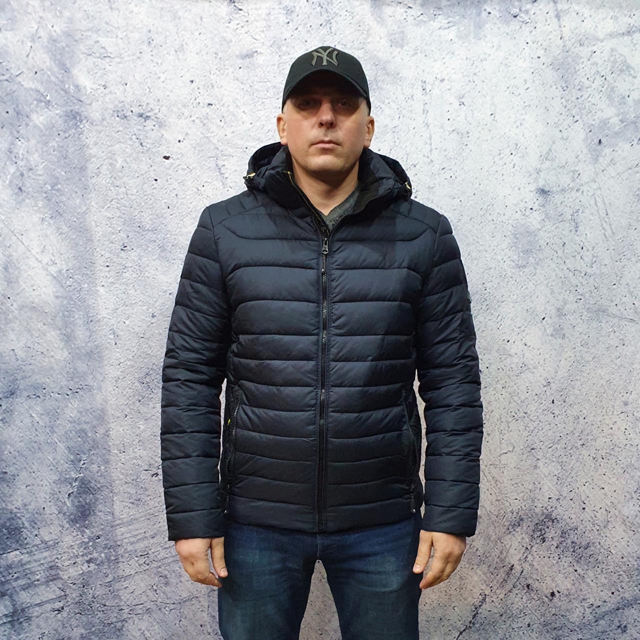 Чоловіча куртка vinyl Black C19-1315C
