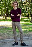 Свитер мужской 117R007(7206) цвет Сливовый, фото 2