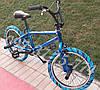 ✅Велосипед bmx Для Подростка Crosser Rainbow 20 Дюймов Синий с Голубыми покрышками, фото 5