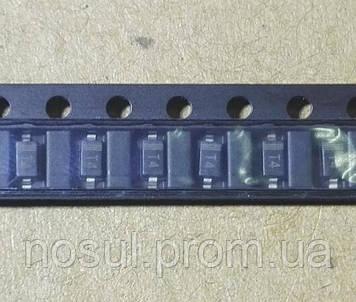 Диод SMD кремниевый 1N4148 (аналог КД522Б) 1206 T4 SOD123 0.15A 100V W1