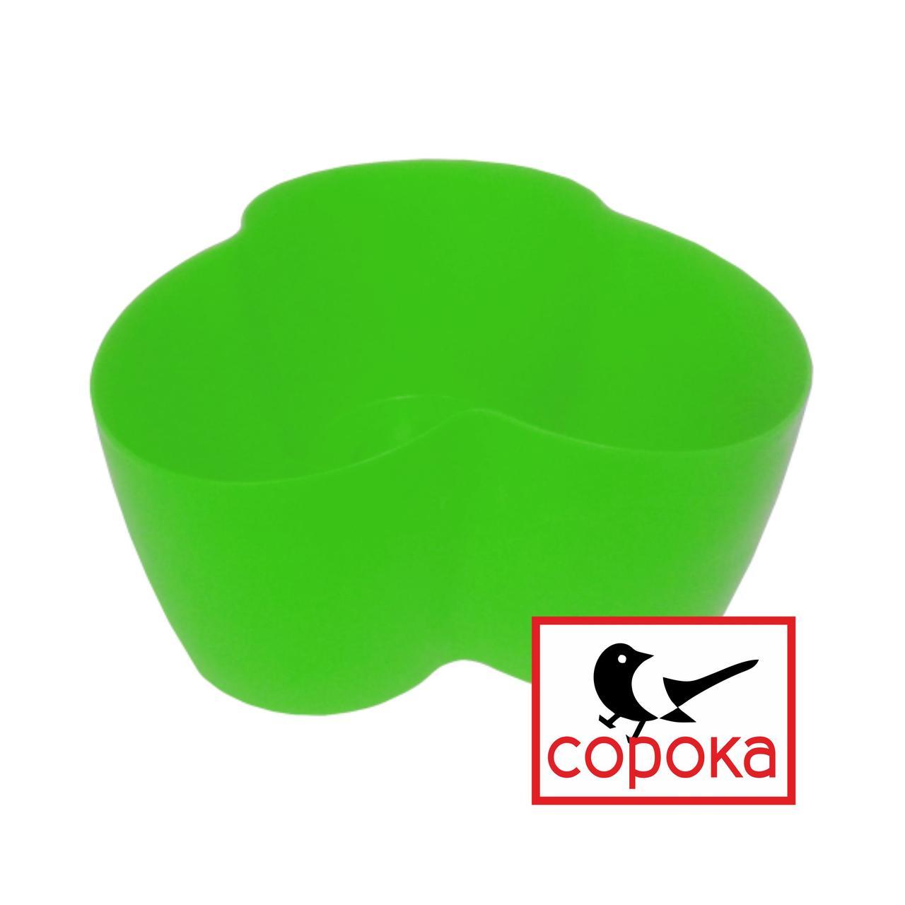 Вазон для цветов Алеана Кактус салатовый на 3 растения 1,1л (Горшок для фиалок на три растения пластиковый)