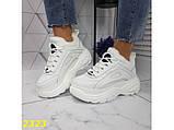 Зимние кроссовки на высокой платформе белые 39 р. (2323), фото 7