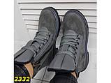 Ботинки демисезон на массивной тракторной подошве серые 37, 39, 41 р. (2332), фото 4