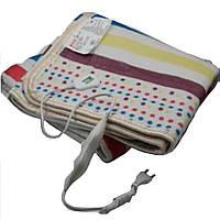 Электропростынь с сумкой electric blanket 150*170  в цветную полоску, фото 1