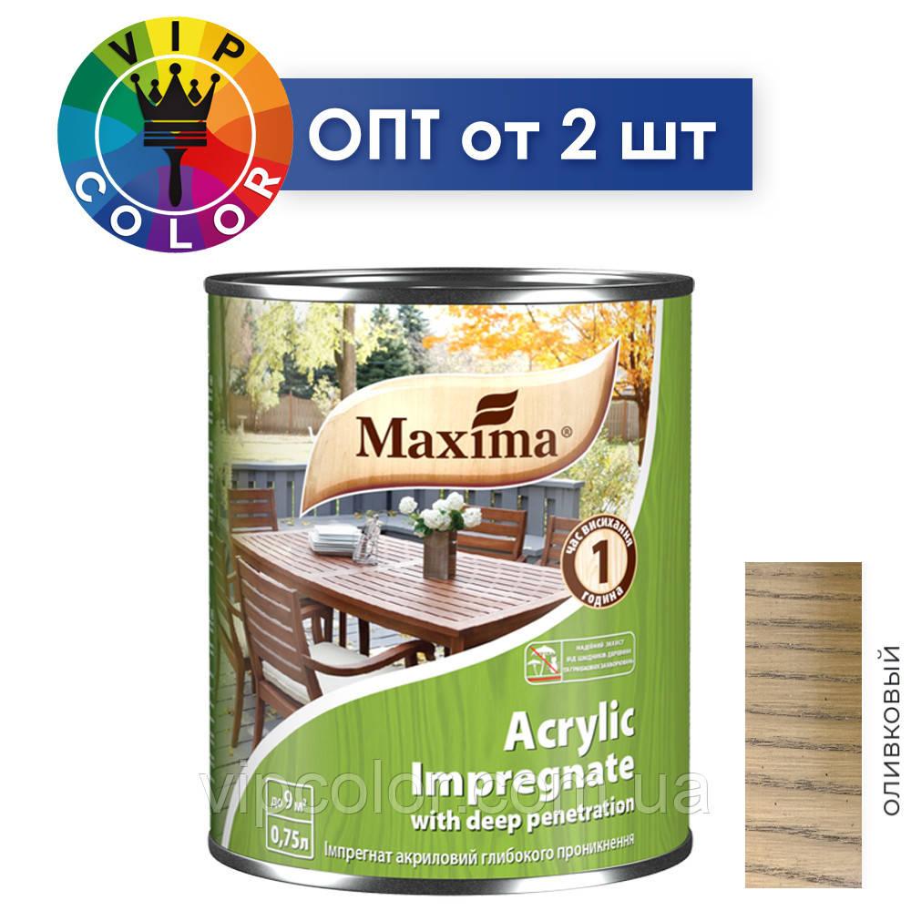 Maxima импрегнат акриловый глубокого проникновения - оливковый, 3 л